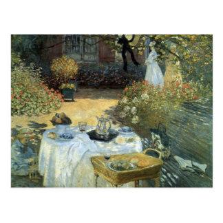 Mittagessen durch Claude Monet, Vintager Postkarte