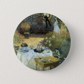 Mittagessen durch Claude Monet, Vintager Runder Button 5,1 Cm
