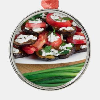 Mittagessen für einen Vegetarier Silbernes Ornament