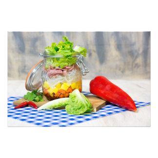 Mittagessen in einem Glas Fotodruck