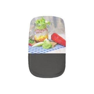 Mittagessen in einem Glas Minx Nagelkunst