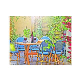 Mittagessen in Provence (der Süden von Frankreich) Leinwanddruck