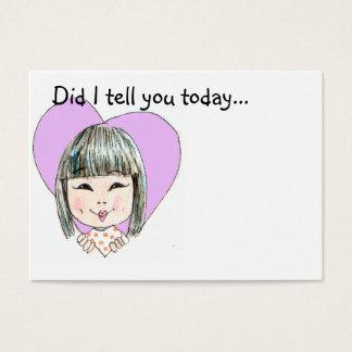Mittagessen-Kasten-Liebe-Anmerkung - besonders Visitenkarte