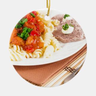 Mittagessenteller der italienischen Teigwaren, Rundes Keramik Ornament
