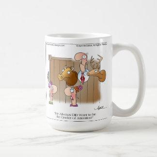 MITTE der AUFMERKSAMKEIT Cartoon-Tasse Tasse