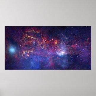 Mitte der Milchstraße-Galaxie IV Poster