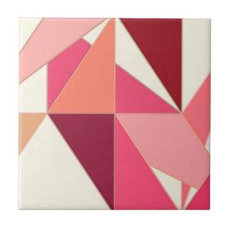 Mitte des Jahrhunderts abstrakt - Dreiecke, Fliese