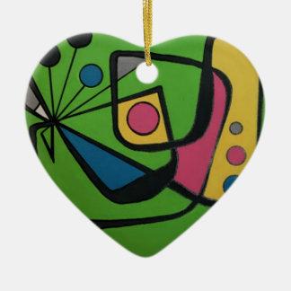 """Mitte des Jahrhunderts modernes abstraktes #4"" Keramik Ornament"
