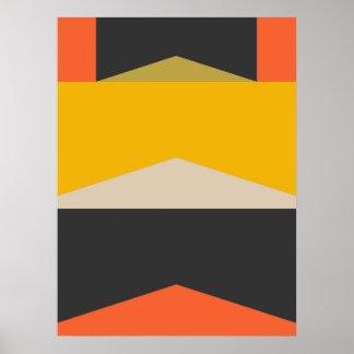 Mitte- des Jahrhundertsmoderne abstrakte Poster