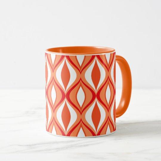 Mitte- des Jahrhundertsmoderne Diamanten, Orange Tasse