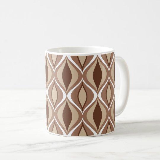 Mitte- des Jahrhundertsmoderne Diamanten, Taupe Kaffeetasse
