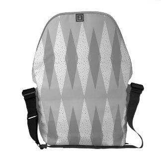 Mitte- des Jahrhundertsmoderne graue Kurier Tasche