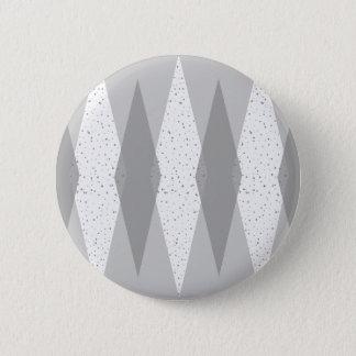 Mitte- des Jahrhundertsmoderne graue Rauten-runder Runder Button 5,7 Cm