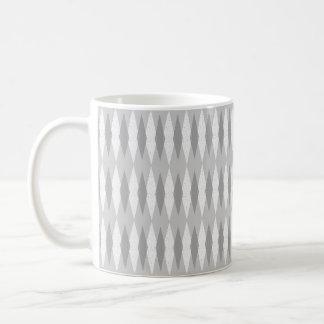 Mitte- des Jahrhundertsmoderne graue Rauten-Tasse Kaffeetasse