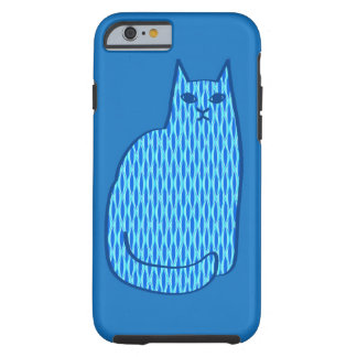 Mitte- des Jahrhundertsmoderne Katze, Kobalt und Tough iPhone 6 Hülle