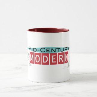 Mitte- des Jahrhundertsmoderne Retro-licious Tasse