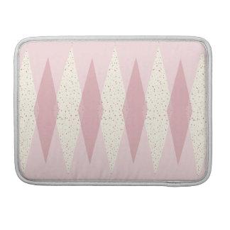 Mitte- des Jahrhundertsmoderne rosa Raute MacBook Sleeve Für MacBook Pro