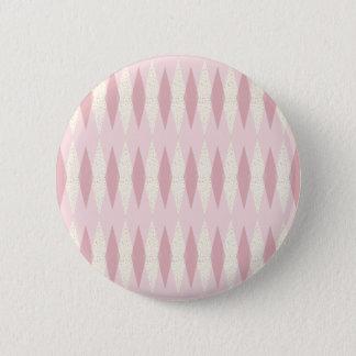 Mitte- des Jahrhundertsmoderne rosa Rauten-runder Runder Button 5,1 Cm