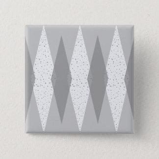Mitte- des Jahrhundertsmoderner grauer Quadratischer Button 5,1 Cm