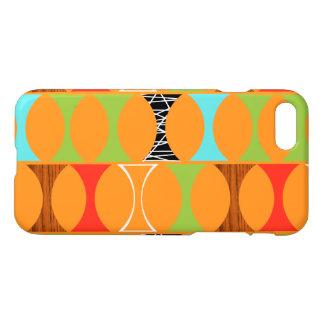 Mitte- des Jahrhundertsmoderner orange Muster iPhone 8/7 Hülle