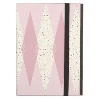 Mitte- des Jahrhundertsmoderner rosa Raute iPad