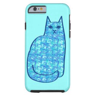 Mitte- des Jahrhundertsmodernes Katzen-, Aqua-und Tough iPhone 6 Hülle