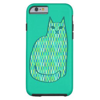 Mitte- des Jahrhundertsmodernes Katzen-, Tough iPhone 6 Hülle