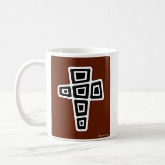 Mitte- des Jahrhundertsmodernes Kreuz (hochrot) Kaffeetasse
