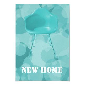 Mitte- des Jahrhundertsmodernes neues Zuhause 8,9 X 12,7 Cm Einladungskarte
