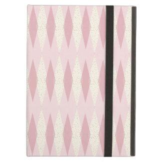 Mitte- des Jahrhundertsmodernes rosa Rauten-iPad