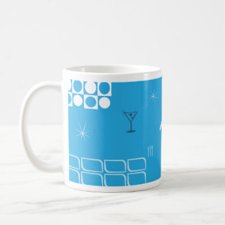 Mitte- des JahrhundertsRetro blauer Jet Kaffeetasse