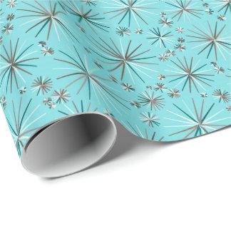Mitte des Jahrhundertssputnik-Muster, Robins Geschenkpapier
