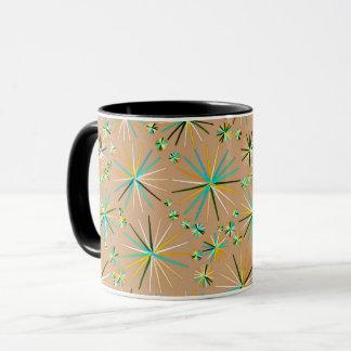 Mitte des Jahrhundertssputnik-Muster, Taupe TAN Tasse