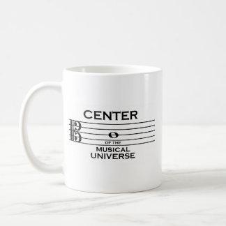 Mitte des musikalischen Universum-Altclef-Entwurfs Kaffeetasse