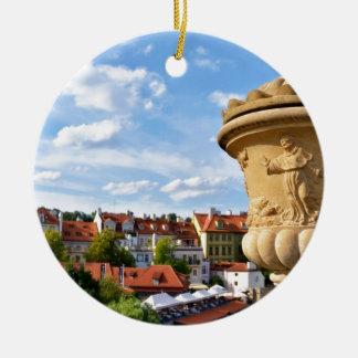 Mitte von Prag, Republik Tscheche Rundes Keramik Ornament
