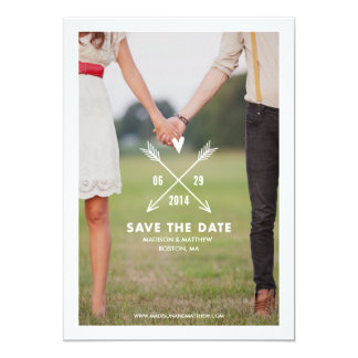 Mitteilung der Hipster-| Save the Date 12,7 X 17,8 Cm Einladungskarte