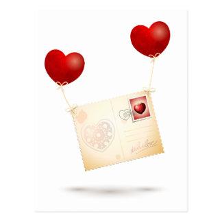 Mitteilung der Liebe Postkarte