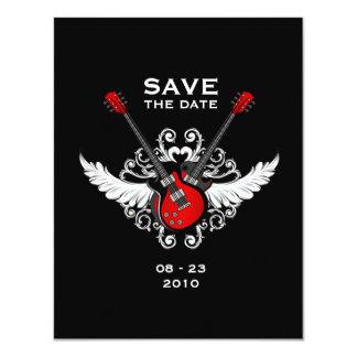 Mitteilung des Rock-and-Roll Save the Date 10,8 X 14 Cm Einladungskarte