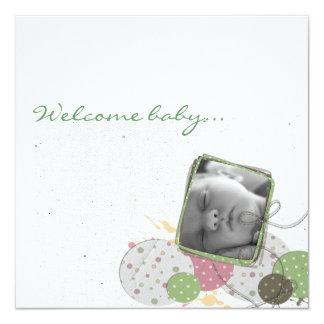 Mitteilung Geburt Design JillCreation Quadratische 13,3 Cm Einladungskarte