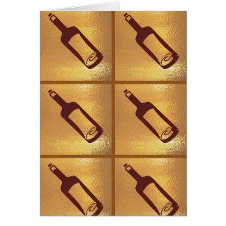 Mitteilung in einer Flasche: ART101 deckte Muster Karte