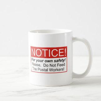 Mitteilung/Postangestellter Tasse