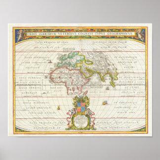 Mittelalter-Karte 1650 Poster