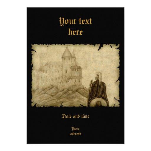 Mittelalterlich Personalisierte Einladungen