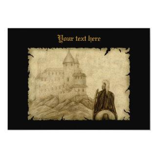 Mittelalterlich 12,7 X 17,8 Cm Einladungskarte