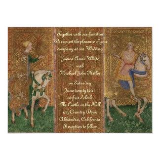 Mittelalterliche 14 X 19,5 Cm Einladungskarte
