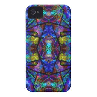 Mittelalterliche abstrakte Kunst beflecktes Glas-D Case-Mate iPhone 4 Hülle