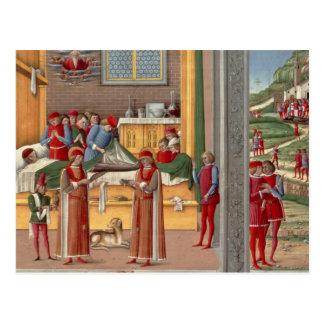 Mittelalterliche Amputierungsszene Postkarte