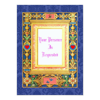Mittelalterliche Art-Hochzeit lädt ein 14 X 19,5 Cm Einladungskarte