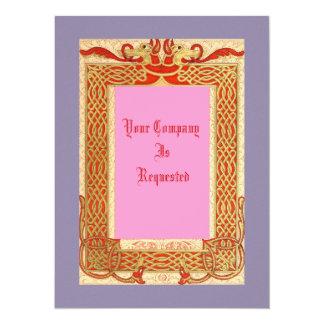 Mittelalterliche Art-Hochzeit lädt ein Einladungskarte
