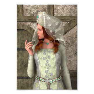 Mittelalterliche Dame Fotodruck